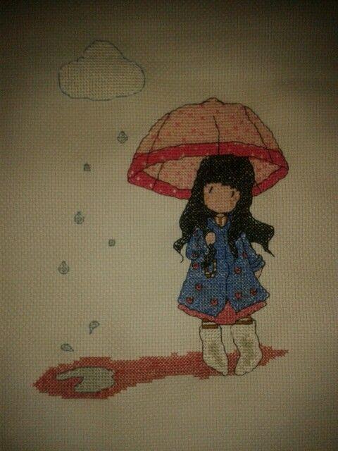 Gorjuss con Paraguas