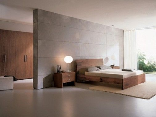 Solid-wood-bedroom-furniture-with-bed-frame-and-table-with-two-drawers-505x378.jpg (505×378)