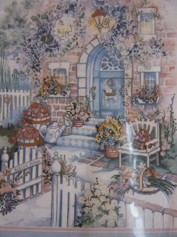 Cross Stitch Kitchen Garden Kit by BonniesVintageAttic on Etsy, SOLD