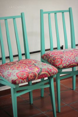 M s de 25 ideas incre bles sobre sillas tapizadas en for Sillas comedor estampadas