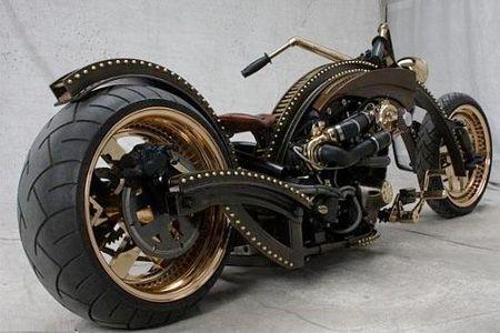 Black and gold custom bike