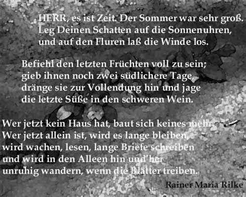 Rilke Der Sommer war sehr groß