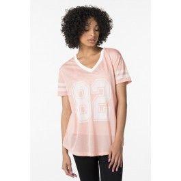 """Peach mesh """"82"""" loose t-shirt"""