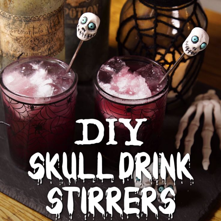 DIY Skull Drink Stirrers