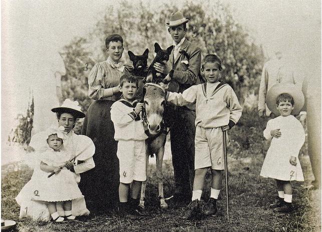 Members of the Greek Royal Family at Tatoi Estate, 1897