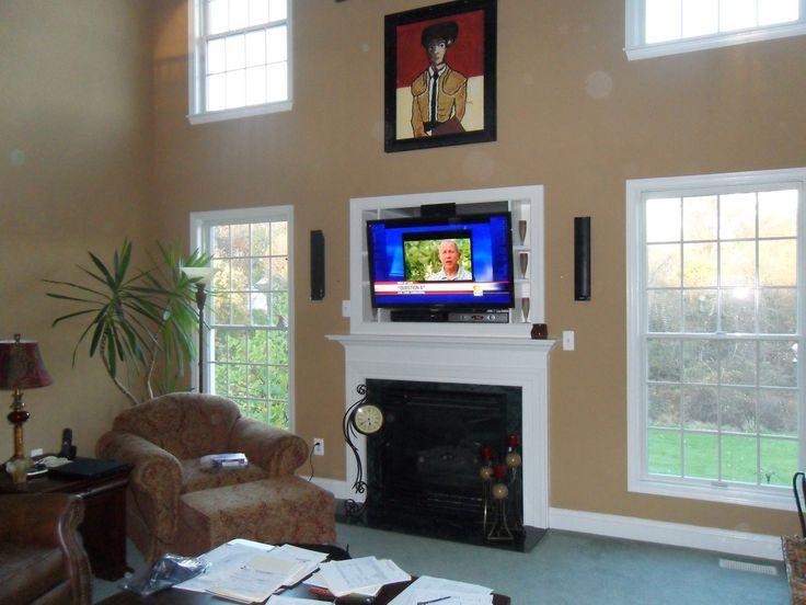 TV Over Fireplace Ideas