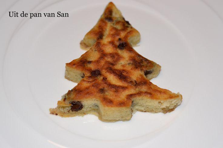 Chocolate chip kerst pannenkoeken - Uit de pan van San