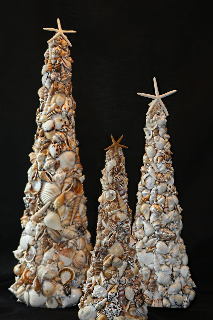 Handmade Seashell Trees for the Holidays ~ Order today from Plumunique on Facebook