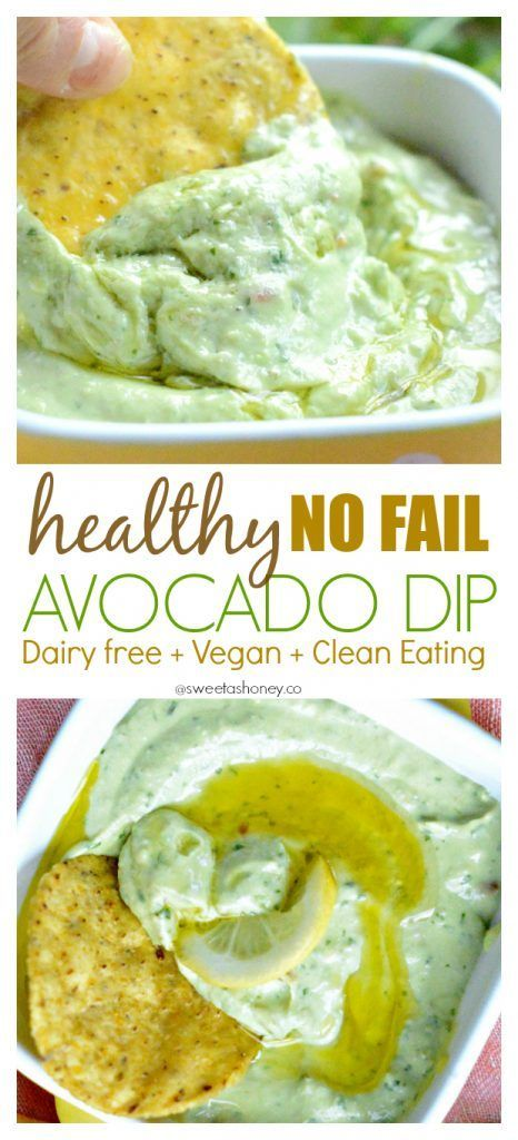 Dairy free Avocado Dip | Vegan Avocado Dip | Easy Avocado Dip Recipe | Clean eating avocado dip | Gluten free dip | Skinny dip | Healthy dip. Very tasty and pretty to look at. The surface darkens upon standing, but just needs to be stirred. Add salt and pepper to taste.