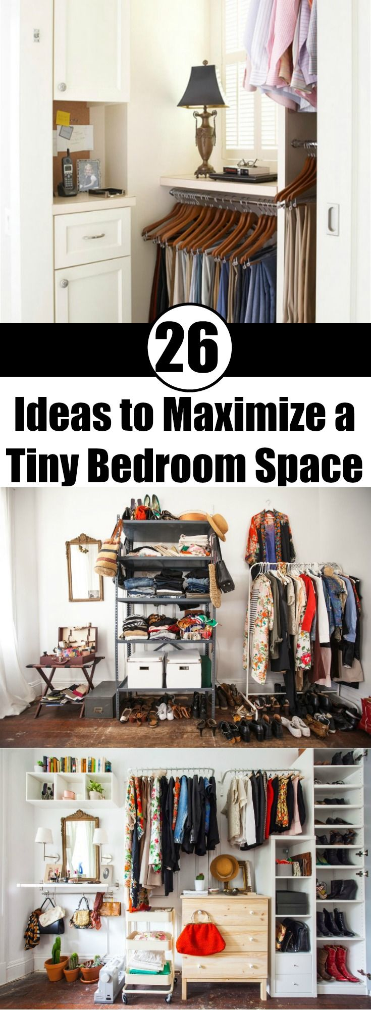 26 Ideas to Maximize a Tiny Bedroom Space