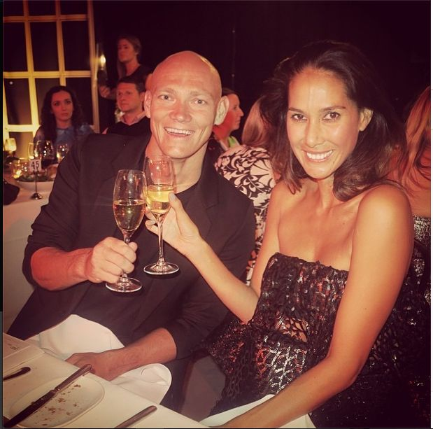 Michael Klim and Lindy Klim enjoying a glass of Piper Heidsieck at tonight's #womenofstyle awards.