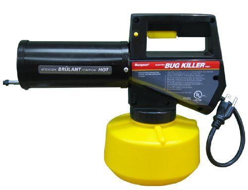 Burgess 960 40 oz. Outdoor Electric Insect Fogger by Burgess. $89.99. Fog in minutes and be bug free for hours. Easy to use, just plug into electrical outlet. Burgess Foggers give you immediate, effective, long lasting control of mosquitoes and flies. Ideal for use before backyard picnics, barbeques, outdoor parties, pool parties and special events. Dispenses 10-foot cone of oderless fog to immediately clear bugs from area; 1-year warranty. Easy, effective outdoor insect pest...