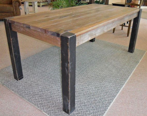 Reclaimed Salvaged Solid Wood Dining Table by VintageMillWerks. Best 25  Solid wood dining table ideas on Pinterest   Dining table