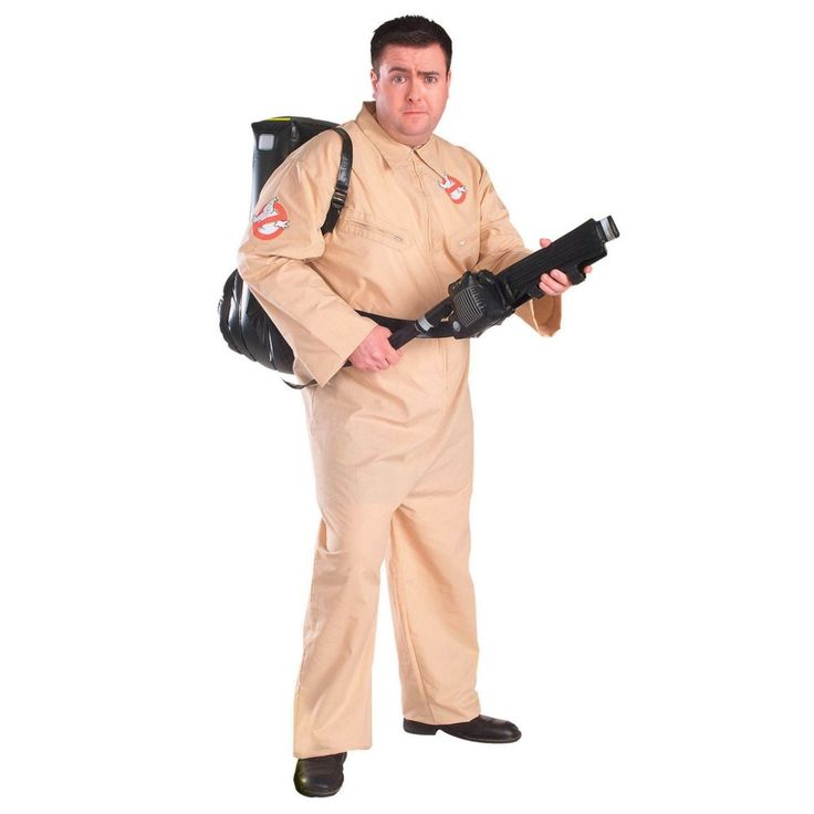 Ghostbuster Plus Size Halloween Costume for Men