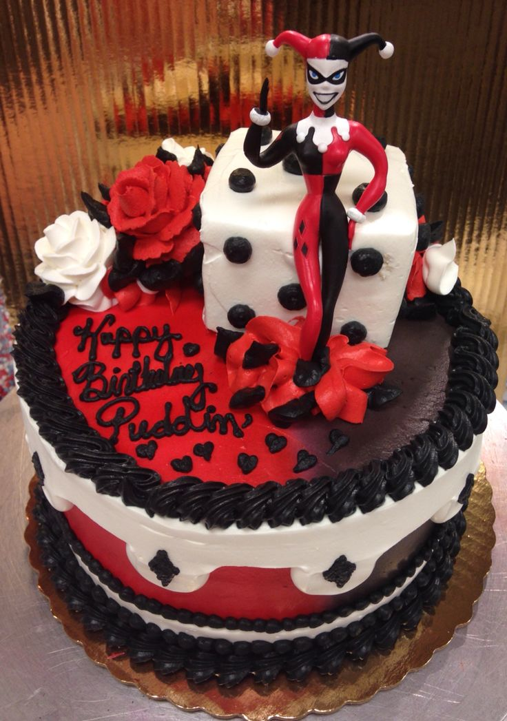 harley quinn cake cakes by amanda pinterest birthday. Black Bedroom Furniture Sets. Home Design Ideas
