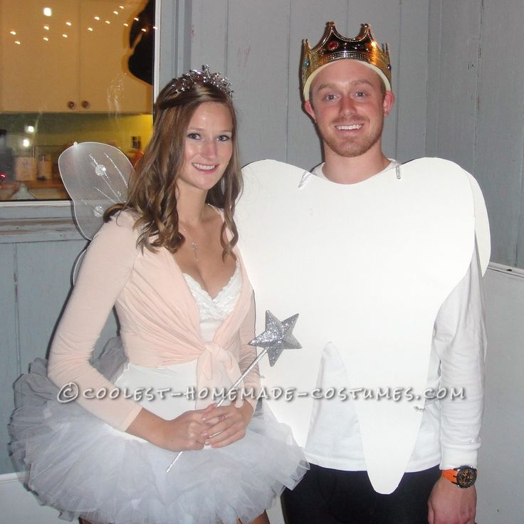 Coolest Tooth and Tooth Fairy Homemade Couples Costume... Coolest Homemade Costumes