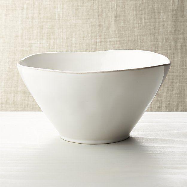 Jess bowl for inside planter hanger - Marin White Small Serving Bowl
