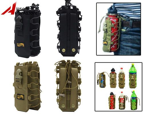 Looyoo 1050D 0.5-2L Tactical Molle Water Bottle Pouch Bag Holder Canteen Cover  #Looyoo