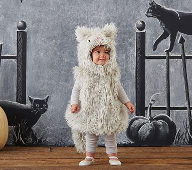 Baby Gray Puffy Kitty Costume #pbkids