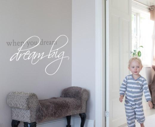Dream big veggord - Et flott veggord for alle drømmere. Like fin i stua som på soverommet.