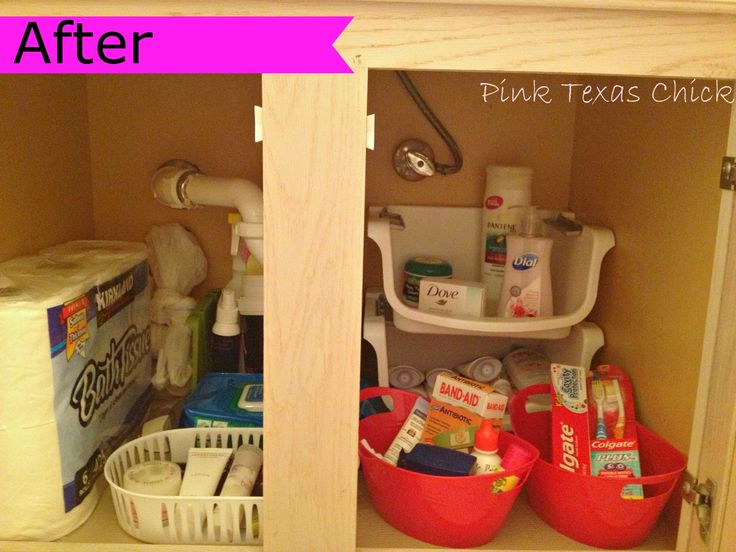 Dollar Store Under Bathroom Sink Organization Idea. 17 Best ideas about Bathroom Sink Organization on Pinterest