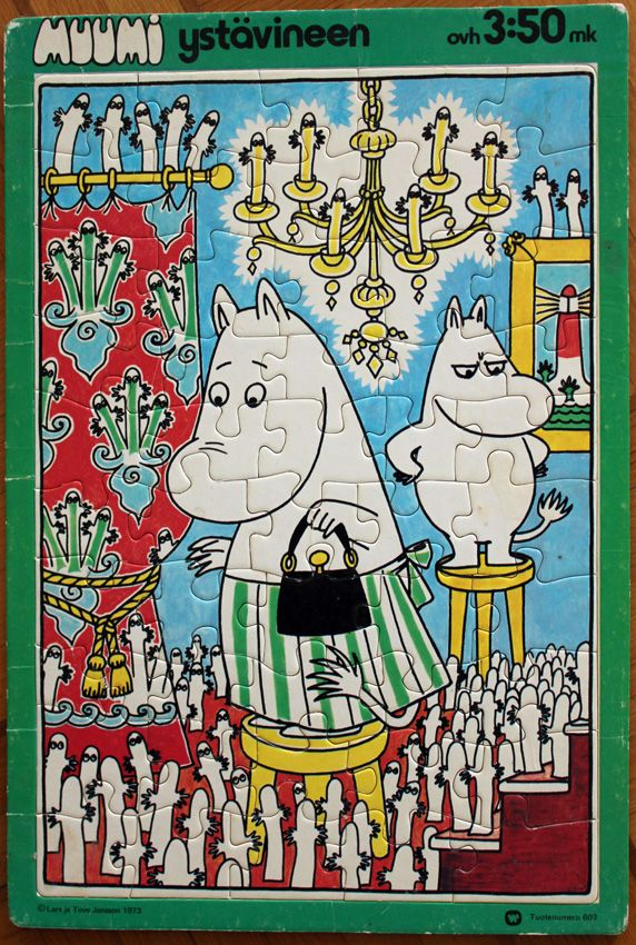 Moomin puzzle 1973. Suomenlinna Toy Museum collection.