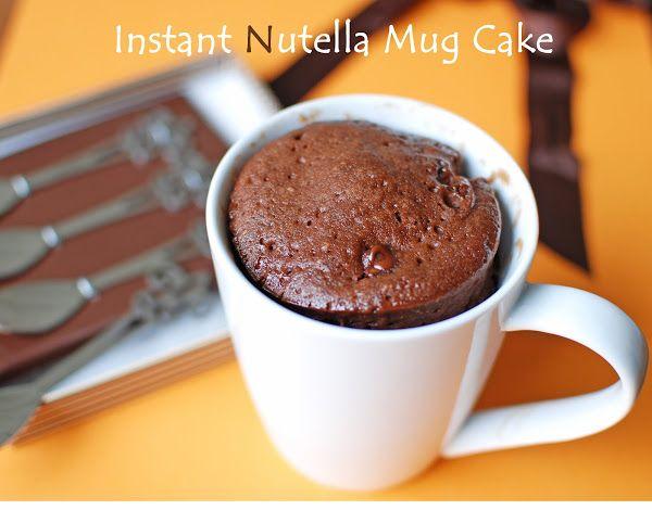 Instant Nutella Mug Cake | 2 minutes Nutella Microwave Mug Cake ~ From My Home Kitchen