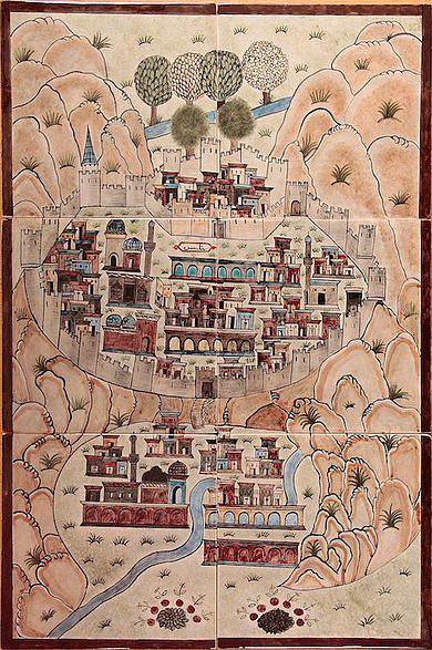 Matrakçı Nasuh-Beyan-i Menazil-i Sefer-i Irakeyn-i Sultan Suleyman-Bitlis, written circa 1537. (Istanbul University Library)
