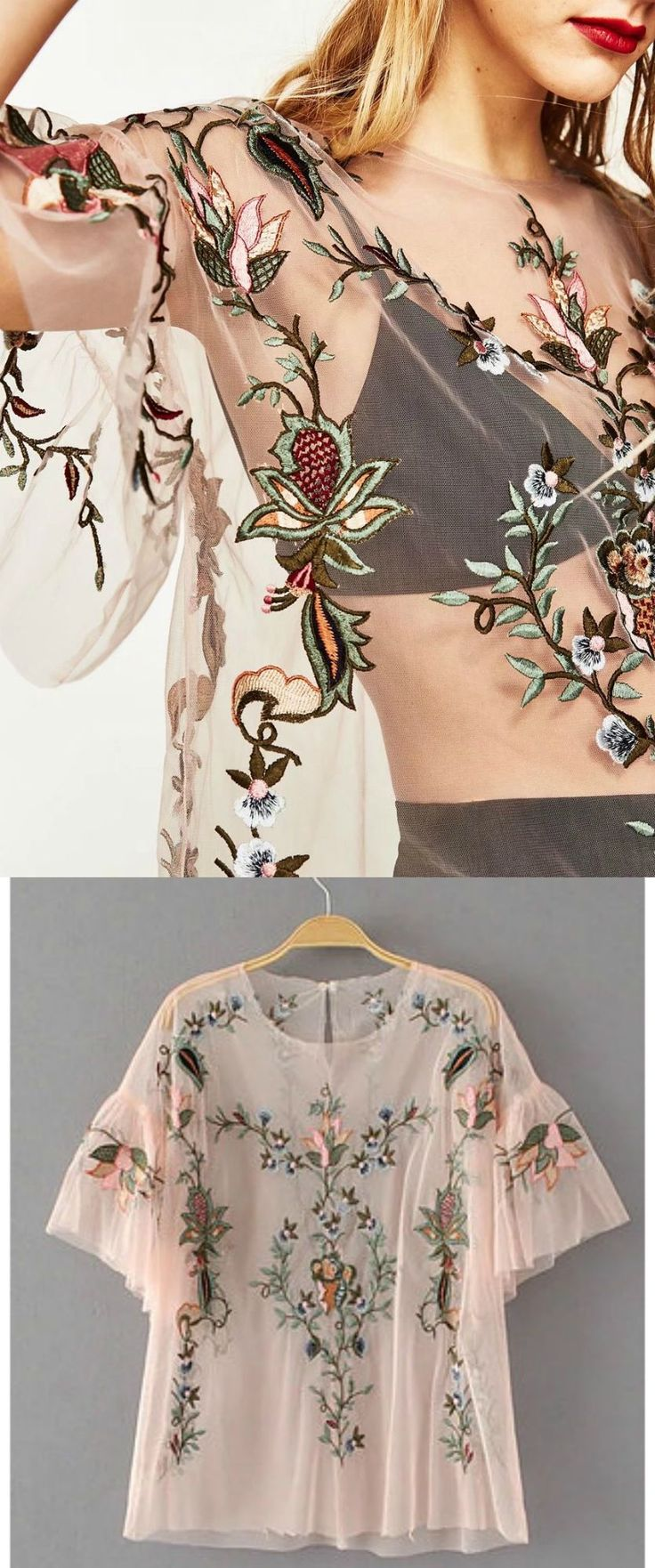 ❤️ A Gorgeous Embroidered Top as featured on PASABOHO. This top exhibit brilliant colors with gorgeous embroidered floral patterns. ❤️ outfit ideas :: street style :: boho chic :: outfit ideas :: boho clothing :: free spirit :: fashion trend :: embroidered :: flowers :: summer :: fabulous :: love :: street style :: fashion style :: boho style :: bohemian :: modern vintage :: ethnic tribal :: boho bags :: embroidery dress :: skirt :: cardigans :: jacket :: tops