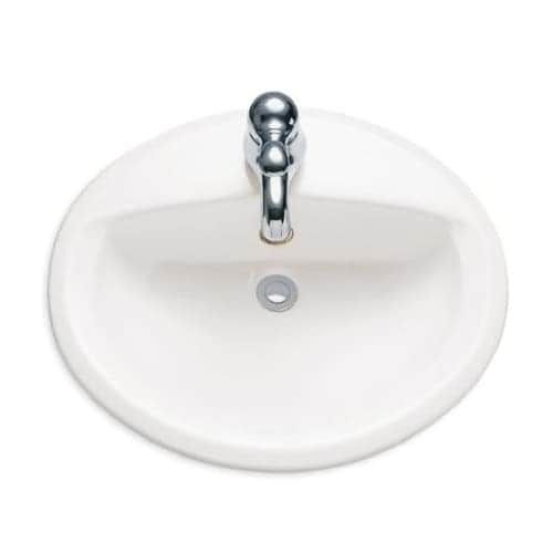 American Standard 0475 047 Aqualyn 20 3 8 Drop In Porcelain Bathroom Sink White Drop In Bathroom Sinks Sink Countertop Sink