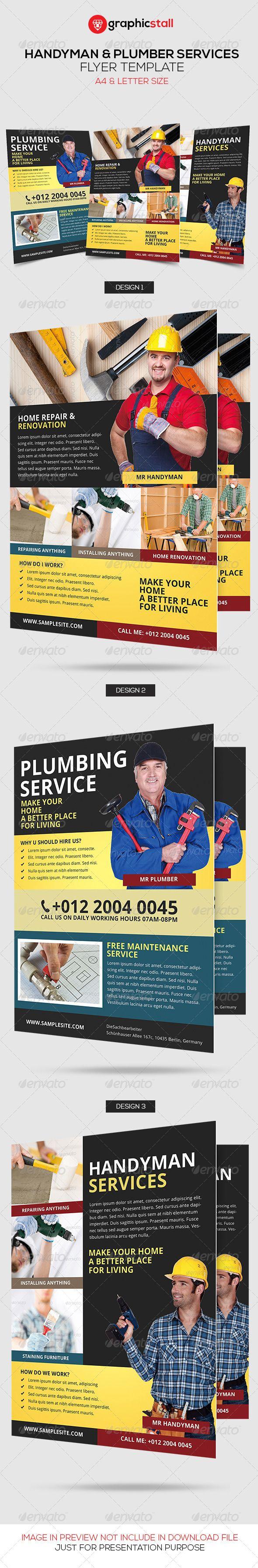 Handyman & Plumber Services Flyer - Corporate Flyers | Download http://graphicriver.net/item/handyman-plumber-services-flyer/6745676?ref=sinzo