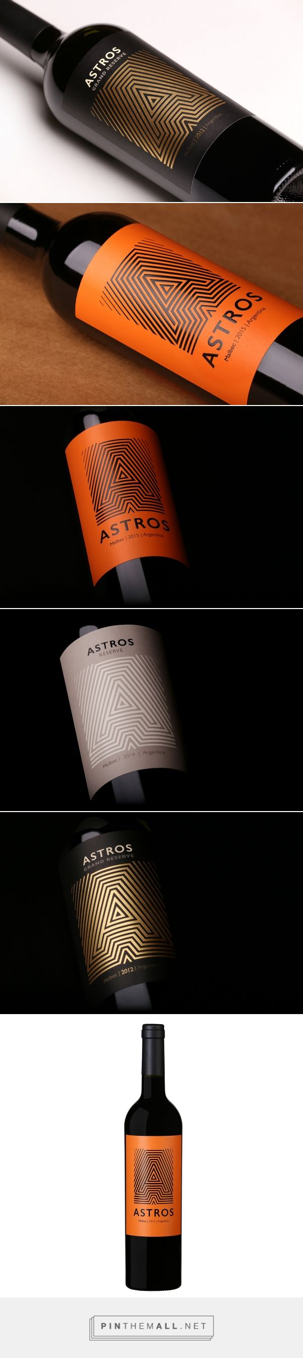 Astros Wine packaging design by Guillo Milia Branding + Comunicación - http://www.packagingoftheworld.com/2016/10/astros-wines.html
