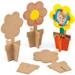 cadre en bois fleurs à décorer cadeau fete des meres ecole maternelle matériel pas cher pour cadeau à fabriquer enfant.jpg, janv. 2014