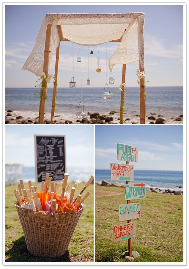 small beach wedding ceremony ideas%0A Boho Chic Beach Wedding