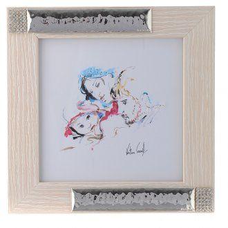 Cuadro Alegría de la Familia de Verther 16 x 16 cm Plata   venta online en HOLYART