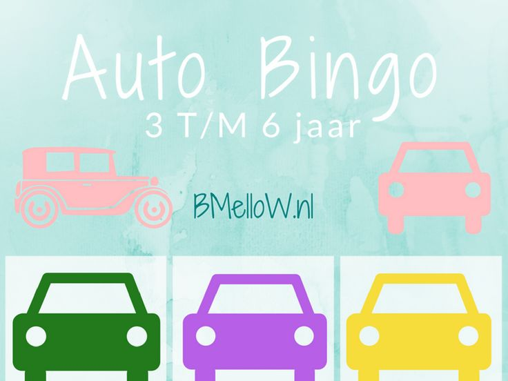 auto bingo tot 6 jaar BMelloW.nl