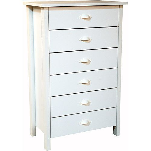 6-Drawer Double Tall Dresser Kid's Bedroom Furniture with Removable Drawer  #BedroomFurniture