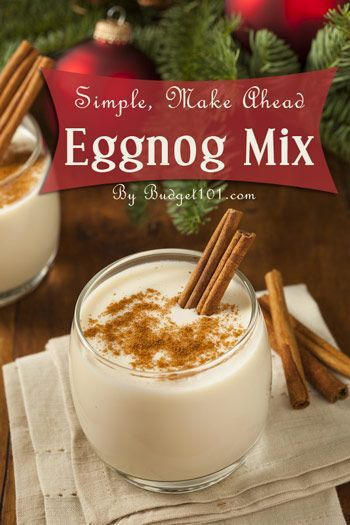 Homemade Eggnog Mix ~ two versions! Make a larger batch to share or just make a smaller batch for yourself. Slightly different ingredients in each.