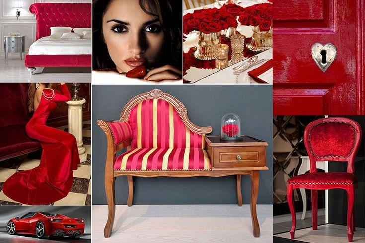 Roșu provocator pentru luna romanticilor