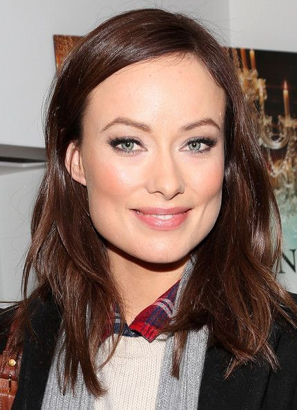 Olivia Wilde's rich chocolate brown hair color gives her face and …