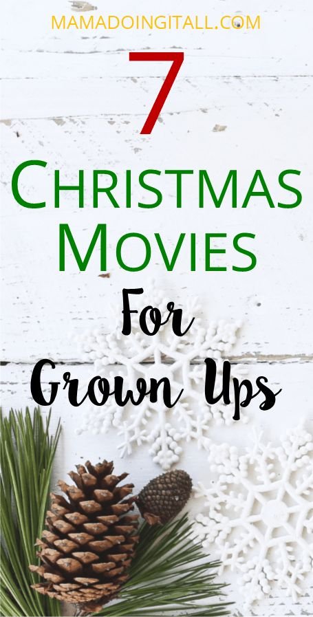 When you just don't want to watch movies with talking animals or Santa Claus. Christmas movies for grown ups!