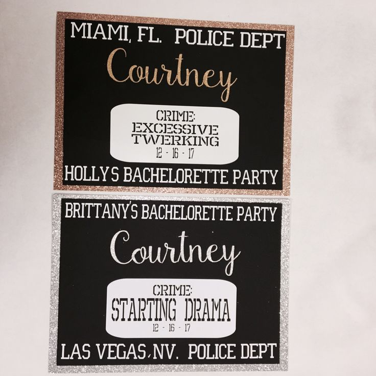 A personal favorite from my Etsy shop https://www.etsy.com/listing/503460279/glitter-mug-shot-signs-for-bachelorette
