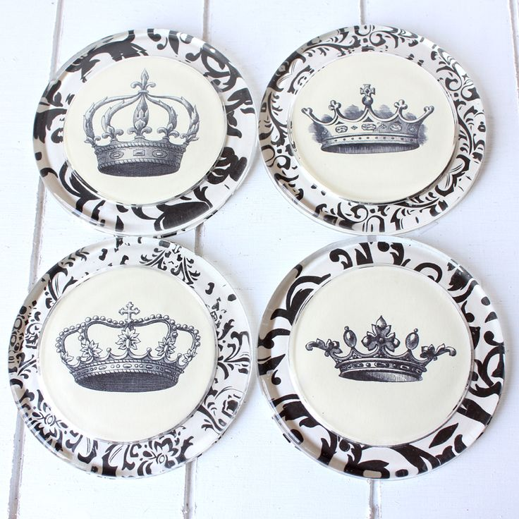 The Graphics Fairy - DIY: How to Make Crown Coasters - Ikea Hack