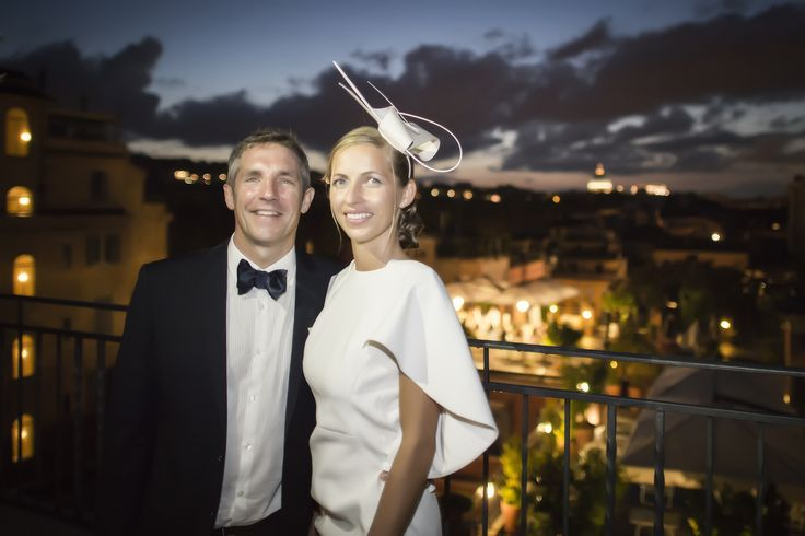 On the roof of a beautiful Hotel in Rome, bride and grooms arriving from Dubai, amazing night, so nice and lovely people <3 #rome 2014