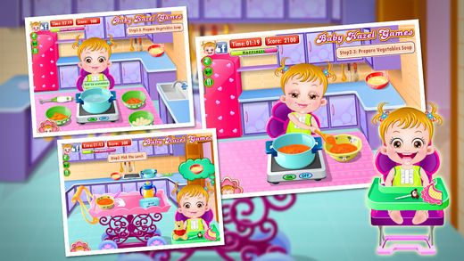 Baby Hazel decides to prepare tasty vegetable soup and apple puree. Can you help her in cooking? https://itunes.apple.com/gb/app/baby-hazel-kitchen-time/id913135041?mt=8