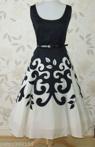Vintage black and white - that is one groovy dress! Love it