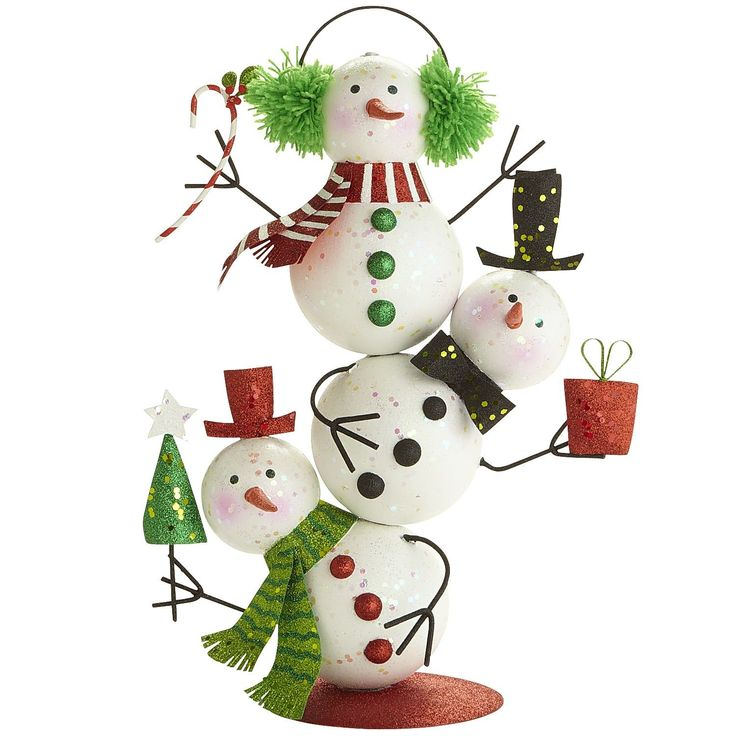 Glitter Stacked Snowmen from Pier 1. So cute!