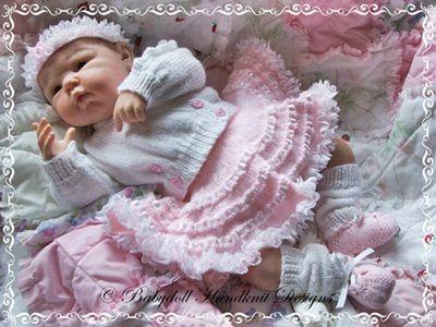 'Baby Ballerina' Outfit 16-22 inch doll/0-3m baby-knitting pattern, doll, baby, ballet, ballerina, tutu