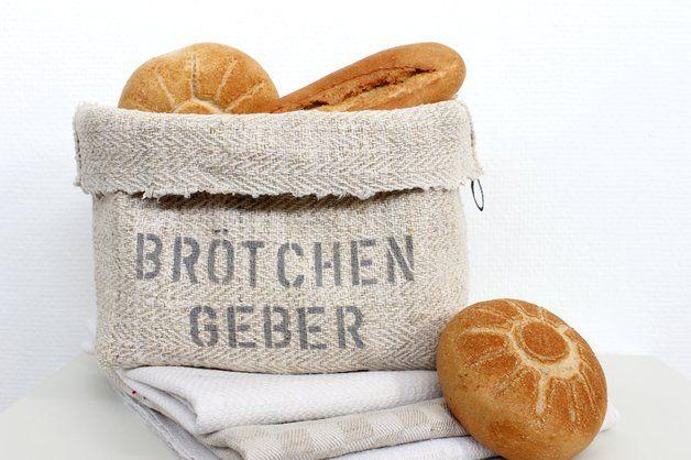 Textil-Brotkörbe - Brotkorb, LEINEN, handgewebt - ein Designerstück von theartofvariety bei DaWanda