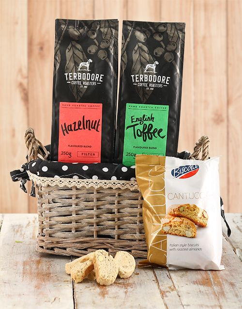 Buy Best of Both Worlds Coffee Basket Online -Gifts For Men